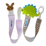 Bumble Bee - 2pc Baby Pacifier Clips *Bunny & Dino*