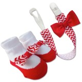 Bumble Bee - Baby Pacifier Clips with Socks Set *Red*