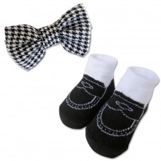 Bumble Bee - Baby Bow Tie with Socks Set *Black*