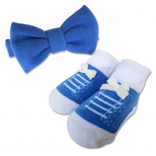 Bumble Bee - Baby Bow Tie with Socks Set *Navy*