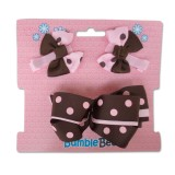 Bumble Bee - Hair Clip Set *Coffee* XLA0035