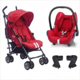 EasyWalker - Mini Buggy Stroller + Maxi Cosi Carrier Travel System *Fireball Red*