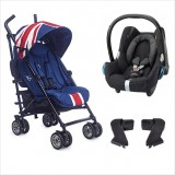 EasyWalker - Mini Buggy Stroller + Maxi Cosi Carrier Travel System *Union Jack 2016*