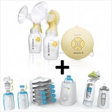 Medela - Swing Maxi Double Electric Breastpump with Kiinde Gift Set w Kozii Warmer