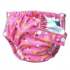 Charlie Banana - 2-in-1 Swim Diapers & Training Pants w Snaps (Princesse)