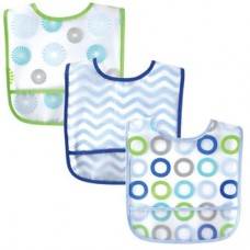 Luvable Friends - PEVA Bibs 3pk (Blue) *02192*