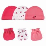 Luvable Friends - Cap & Mittens 3pk Set *34560* Dark Pink