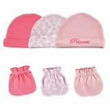 Luvable Friends - Cap & Mittens 3pk Set *34560* Pink