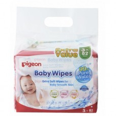 Pigeon - Baby Wipes Water Base 82's (3in1) *BEST BUY*