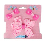Bumble Bee - Hair Clip Set *Fuschia* XLA0034