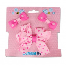 Bumble Bee - Hair Clip Set *Fuschia* XLA0034