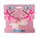 Bumble Bee - Hair Clip Set *Pink* XLA0031