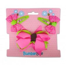 Bumble Bee - Hair Clip Set *Pink* XLA0036