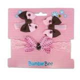 Bumble Bee - Headband & Hair Clip Set *Brown* XLA0037
