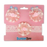 Bumble Bee - Headband & Hair Clip Set *Pink* XLA0038