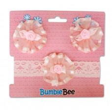 Bumble Bee - Headband & Hair Clip Set *Pink* XLA0038