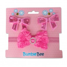 Bumble Bee - Headband & Hair Clip Set *Fuschia* XLA0039