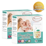 Autumnz -Double Zip Lock Breastmilk Storage Bag (2 PACKS) *7oz(28 bags)*