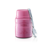 Thermos - 470ml/16oz Stainless King Food Jar w Spoon *Pearl Pink* + Pouch