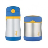 Thermos - Foogo 300ml F/Jar B3000 & Foogo Straw Bottle 300ml BS535 (Blue)