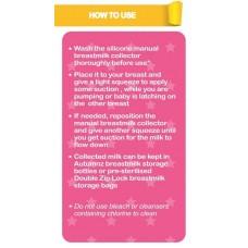 Autumnz - Silicone Manual Breastmilk Collector (FOC Hygiene Cover)