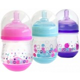 The First Years - Gumdrop Wide Neck Anti-Colic 4oz (3pk) Pink/Purple/Dark Blue