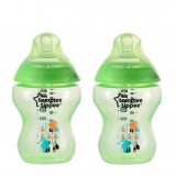 Tommee Tippee - Closer To Nature 9oz PP Tinted Bottle (Twin) *Lime Green*