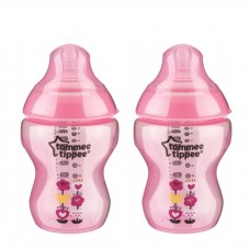 Tommee Tippee - Closer To Nature 9oz PP Tinted Bottle (Twin) *Pink*