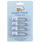 Luvable Friends - 4 Count Diaper Pins (Blue) *00970*