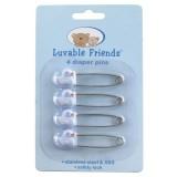 Luvable Friends - 4 Count Diaper Pins (Blue Duck) *00970*
