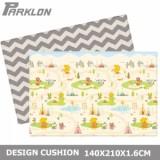 Parklon - PVC Design Cushion Mat (L) *Yellow Bear Indian Town + ZigZag*