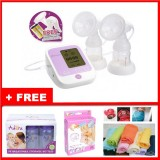 Autumnz - PASSION II (With Rechargeable Batteries) Convertible Double Electric/Manual Breastpump w FREE GIFTS total worth RM81.40