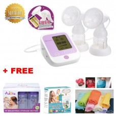 Autumnz - PASSION II (With Rechargeable Batteries) Convertible Double Electric/Manual Breastpump w FREE GIFTS total worth RM79.40
