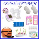 Autumnz - PASSION II (With Rechargeable Batteries) Convertible Double Electric/Manual Breastpump *EXCLUSIVE PACKAGE*
