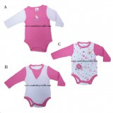 ABaby - Baby Body Suit 1pc (Long Sleeve) *Pink Flowers* BEST BUY