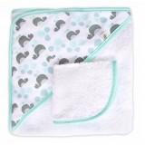 JJ Cole - Hooded Towel (Aqua Whales)