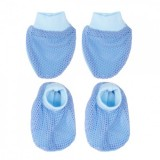 Autumnz - Mitten And Bootie Set *EYELET* (Blue) *BEST BUY*