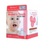Simba - Mother's Touch Wide Neck Round Hole Anti-Colic Nipple 1pc - L (6M+)