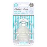 Simba - Mother's Touch Wide Neck Cross Hole Anti-Colic Nipple 2pcs - S (0-3M)