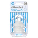 Simba - Mother's Touch Wide Neck Cross Hole Anti-Colic Nipple 2pcs - M (3-6M)