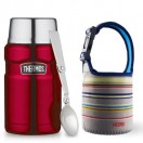Thermos - S/S King Food Jar 710ml (Red) + Pouch