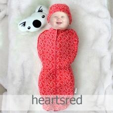 * CuddleMe - Hybrid Swaddlepod *HEARTS RED*