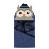 Luvable Friends - Animal Hooded Towel Embroidery (Mr.Owl) *57085*