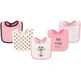 Hudson Baby - Interlock Drooler Bib 5pk (Love) *50975*