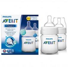 Philips Avent - PP Classic + Feeding Bottle *Twin Pack* 4oz/125ml