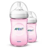 Philips Avent - Bottle Natural 2.0 *260 ML/9OZ* Twin Pack (PINK)