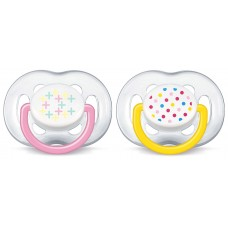 Philips Avent - Contemporary Free Flow Soother 6-18M (Pink) *BEST BUY*