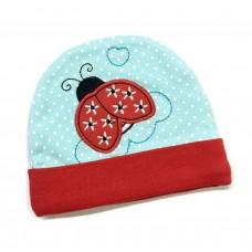 Earth Bebe - Embroidery Newborn Hat (Ladybug)