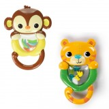 Bright Starts - Shakin Safari Rattles (Monkey / Tiger) *BEST BUY*