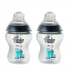 Tommee Tippee - Closer To Nature 9oz PP Tinted Bottle (Twin) *Black*